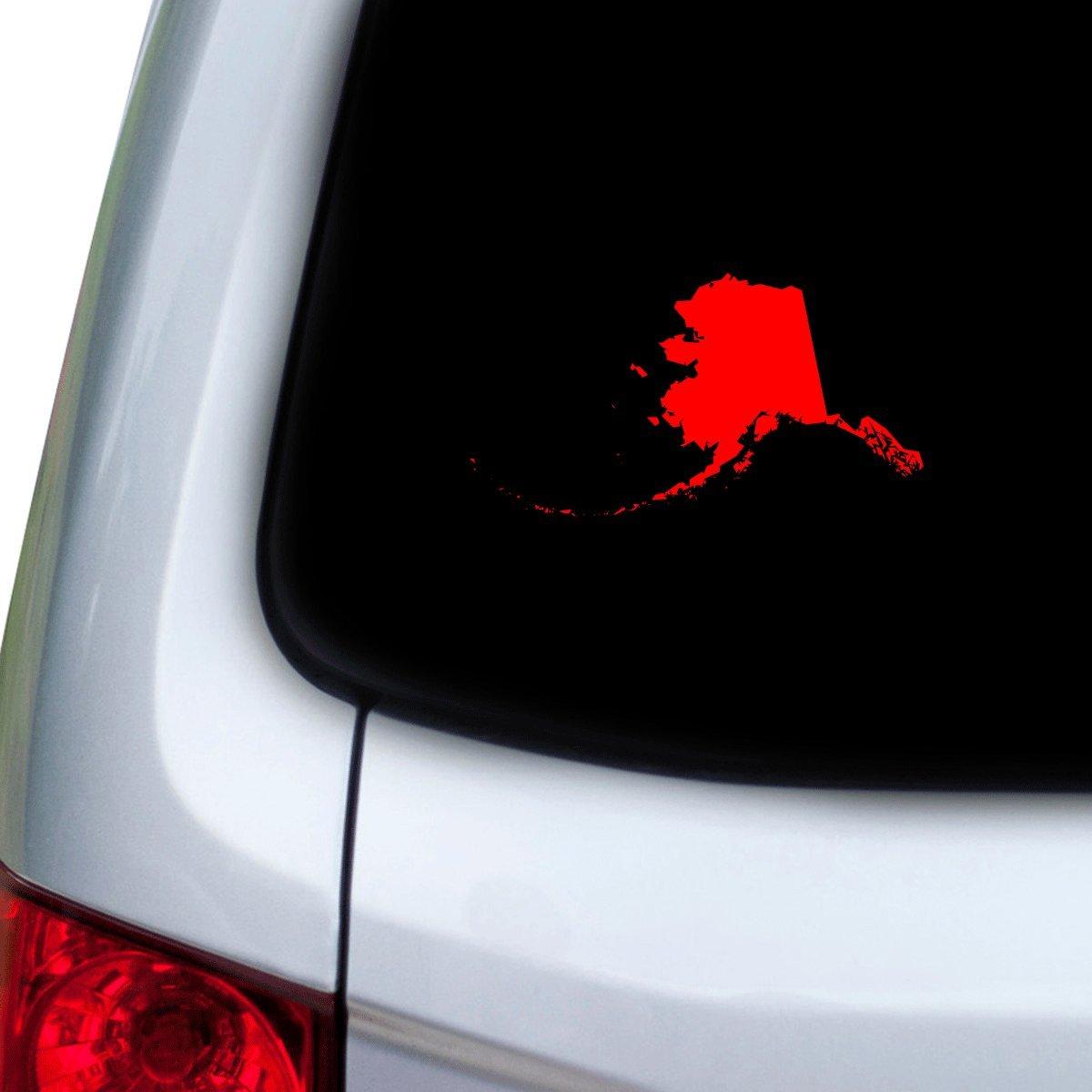 Hoods Doors Red StickAny Car and Auto Decal Series Alaska AK Sticker for Windows