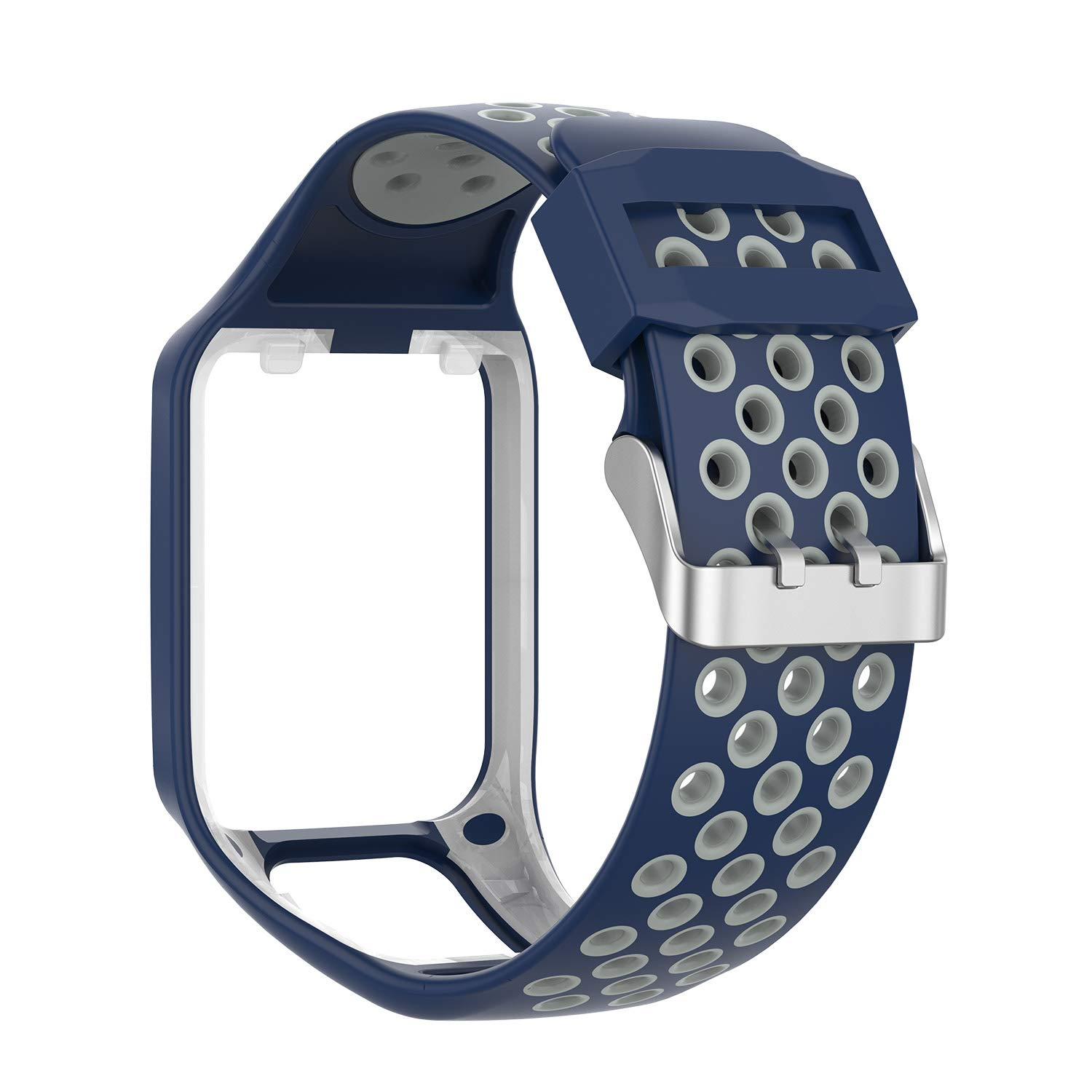 Compatible with Tom Tom Bands,Moorovgi Silicone Colorful Replacement Watch Band Wristband Bracelet for Tom Tom Adventurer/Tom Tom Golfer 2, Runner ...