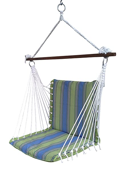 Oak N Oak Comfortable & Relaxing Indoor & Outdoor Hanging Chair Furniture/Hanging Hammock Chair Swing/Hanging Rope Swing Chair/Garden Hanging Chairs/Patio Swing Seat for Backyard, Bed Room, Porch, Beach - Tropical Palm Stripe