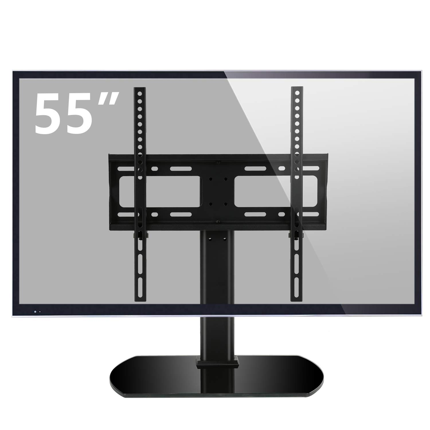 Rfiver Universal Swivel Tabletop TV Stand with Mount for 27 32 37 40 42 43 47 50 55 inch LED,LCD and Plasma Flat Screen TVs with Height Adjustment VESA 400x400mm, UT2002 by Rfiver
