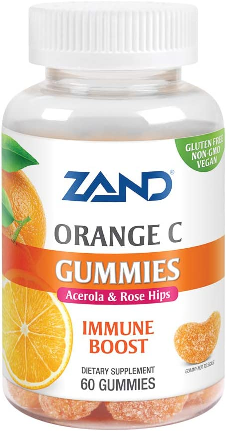 Zand Orange C Gummies | Gluten Free | 60 Gummies