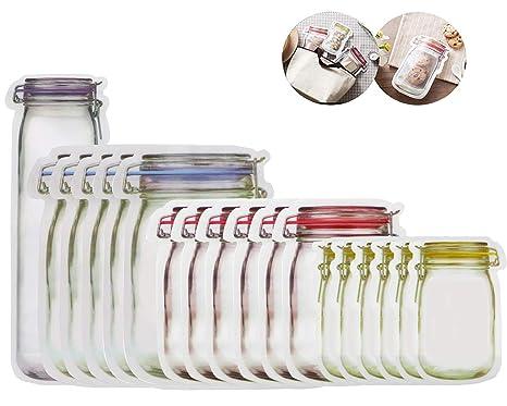 Amazon.com: Mason Jar Bolsas con cierre, almacenamiento de ...