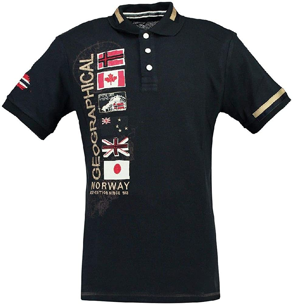 Geographical Norway Polo DE Hombre KERABATI Azul Marino M: Amazon ...
