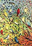 Toland - Tree Birds - Decorative Colorful Bright Collage Fall Autumn Spring USA-Produced Garden Flag