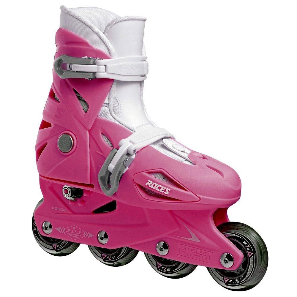 Roces 400687 Model Orlando III Kids Inline Skate, US 9-12jr, Deep Pink