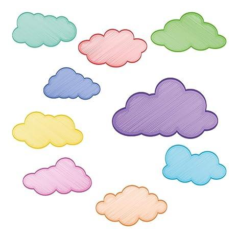 Juego de s de paredNubes coloridas como dibujadas: Amazon.es ...
