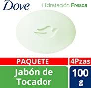 Dove Go Fresh Hidratación Fresca- Jabón de Tocador, 100 gr, 4 Piezas