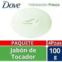 Dove Jabón de Tocador, Go Fresh Hidratación Fresca, 100 gr, 4 Piezas