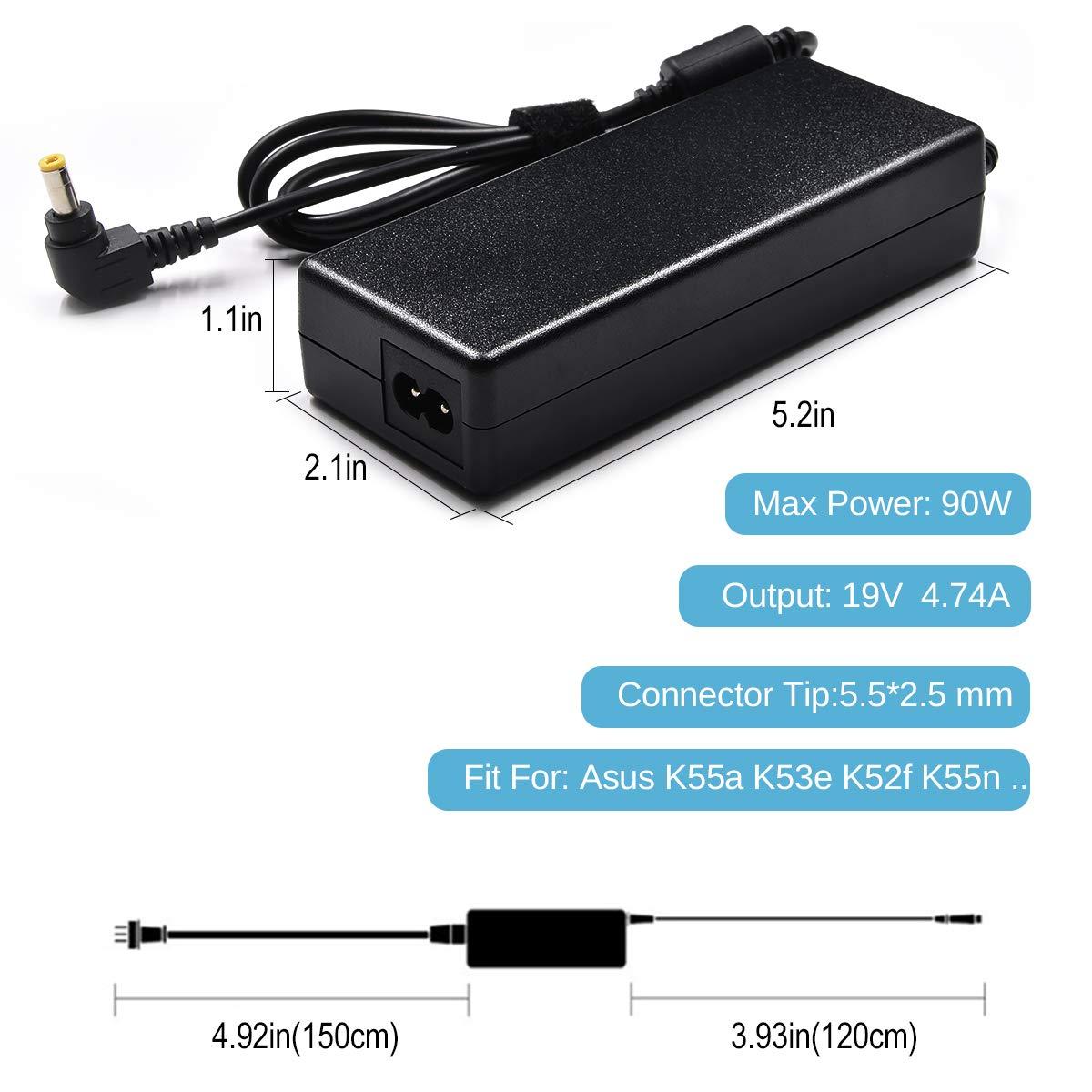 Amazon.com: 90 W adaptador de CA para portátil cargador para ...