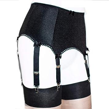 db4fa7897c1 Women's 6 Straps Belt League Lingerie Sexy Lace Garter Belt Suit,Black,S