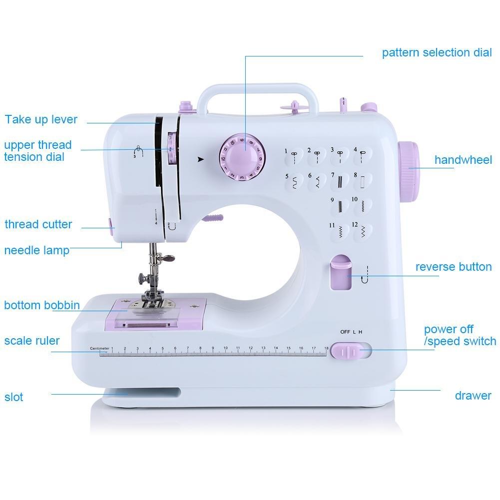 La macchina da cucire vestiti mestieri tende mini macchina da cucire portatile tascabile per i principianti del viaggio macchina da cucire