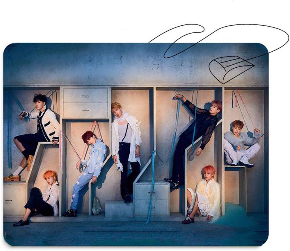 KroY PecoeD KPOP BTS Bangtan Boys - Alfombrilla para ratón, diseño con Texto`Answer` y Texto`Love Youself`, Color H02-BTS