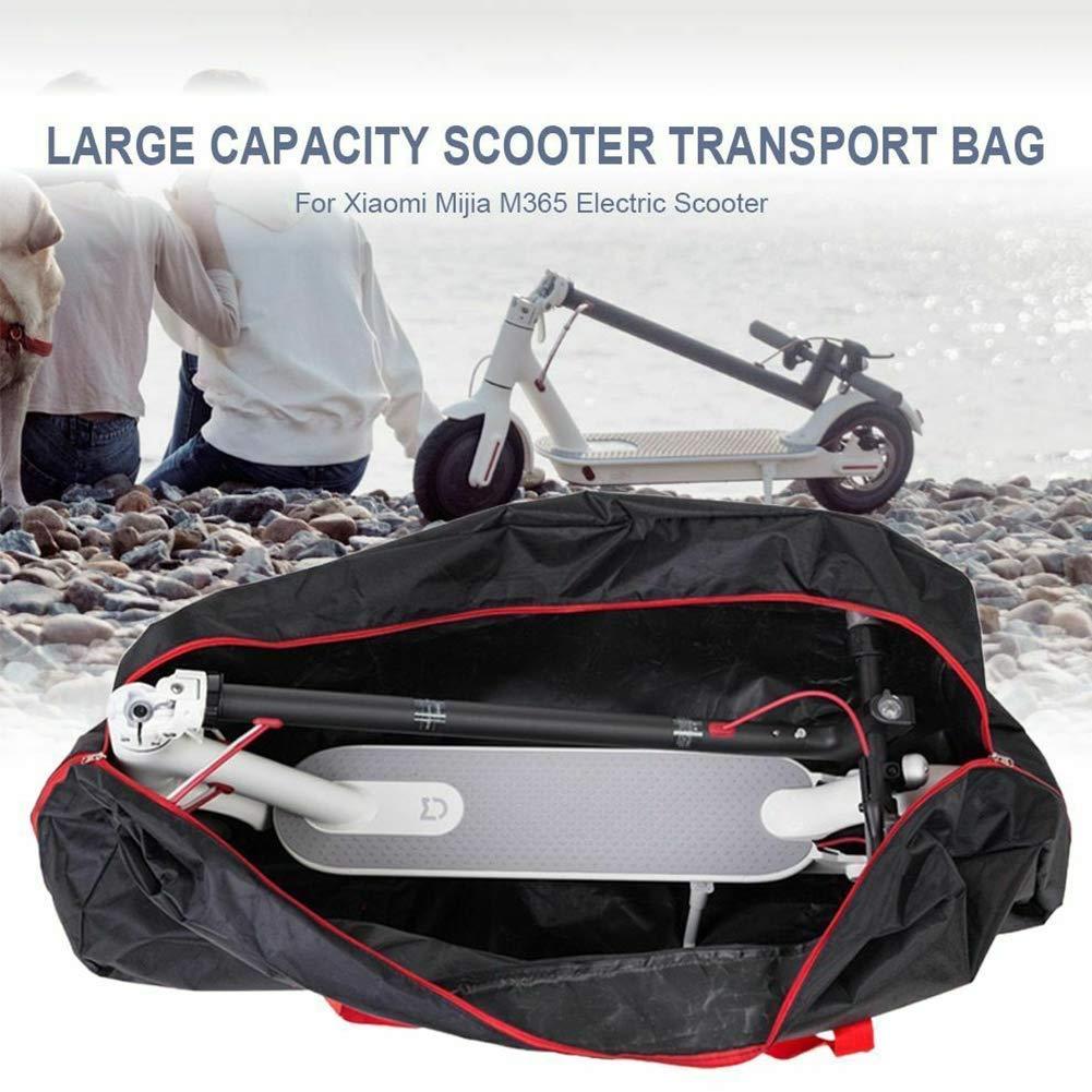 GCDN Escúter Bolsa de Almacenamiento, Skate Transporte, Portátil Plegable Reforzado Correa Grandes Lona Almacenamiento para Xiaomi M365 Eléctrico ...