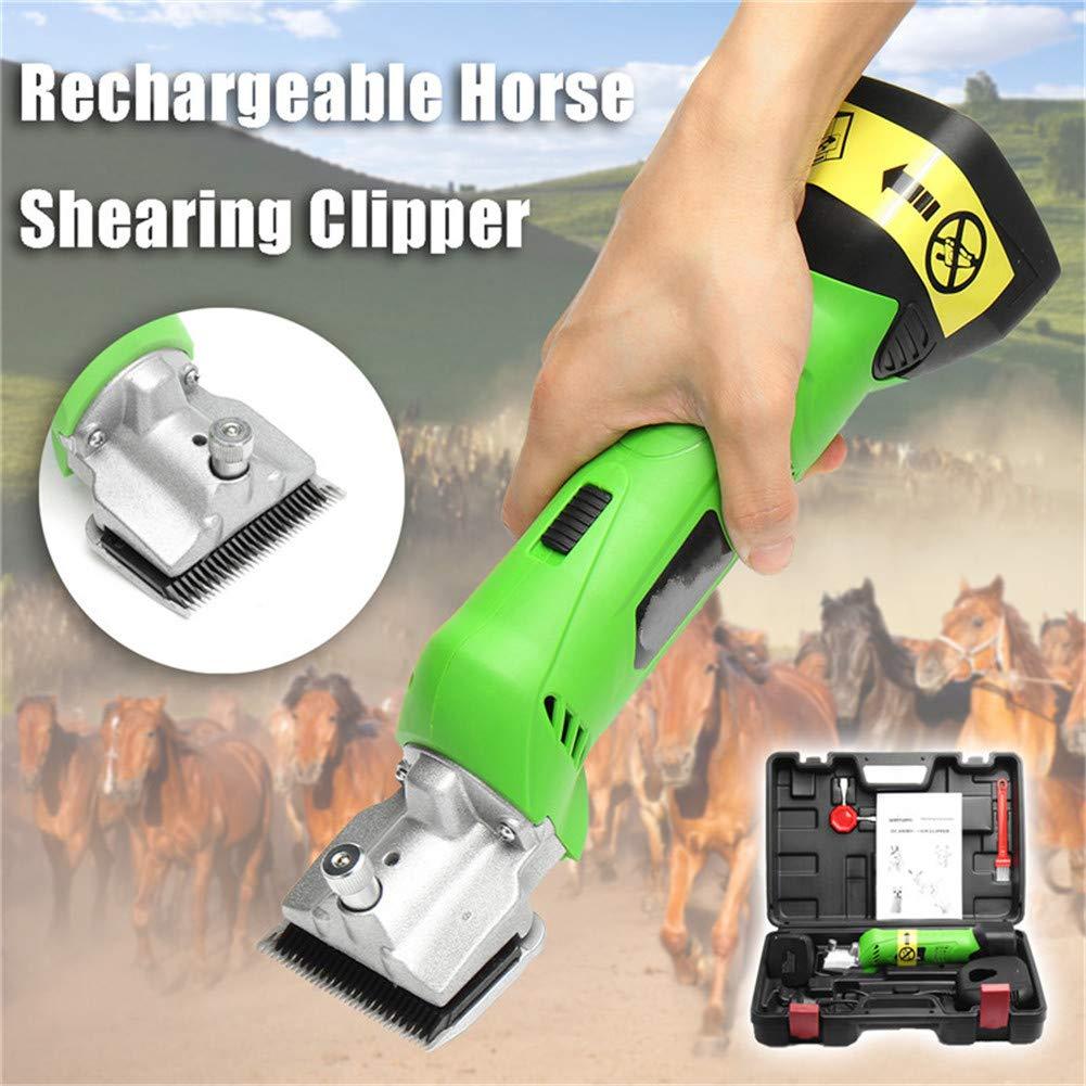 馬用バリカン クリッパー本体 コードレス ワイヤレス, 320W&4000mAhバッテリー プロの電動馬バリカン、低振動電動馬のはさみ、ペット用トリミングトリマー&家畜用コート 馬用品 馬のバリカン B07T97Y74Y