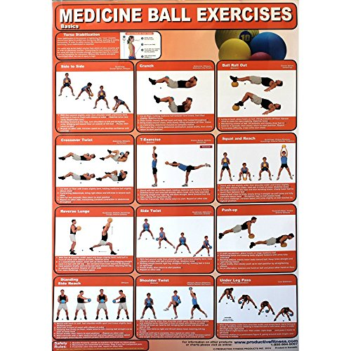 Productive Fitness Poster Medicine Exercises product image