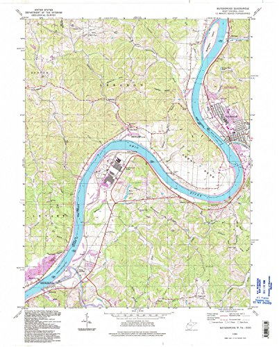 Ravenswood WV topo map, 1:24000 scale, 7.5 X 7.5 Minute, Historical, 1994, updated 1998, 27.3 x 21.9 IN - - Map Bend Willow
