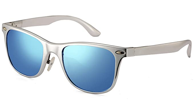 larvin torria Wayfarer Gafas de sol polarizadas con remaches de metal