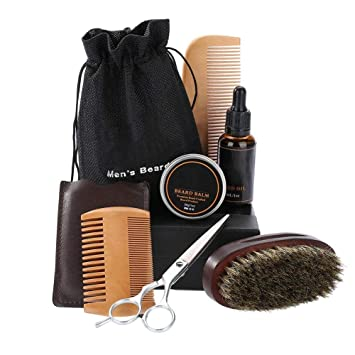 Amazon.com : Beard Kit Mens Grooming Kit (Styling Scissor + Single ...