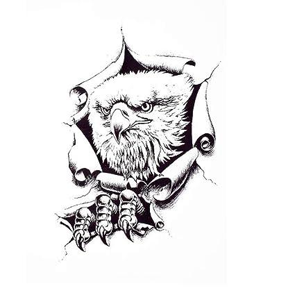 Justfox - Tatuaje temporal, diseño de águila, adhesivo temporal ...