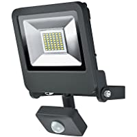 OSRAM Endura Flood Light with Motion Sensor, Aluminium, Integrated, 30 W, Dark Grey