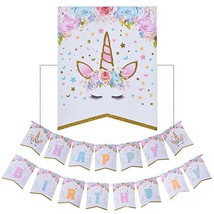Amazon.com: Feliz cumpleaños guirnalda de banderines de ...