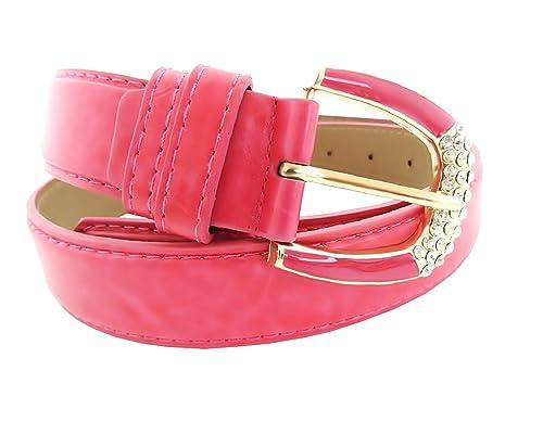 Inception Pro Infinite Cintura da donna - fuxia - per jeans - Ecopelle - fibbia con strass SYQ - 139