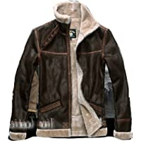Mister Bear Resident Evil 4 Leon KENNEDY'S PU Leather Faux Fur Jackets Cosplay Disfraz Cosplay Disfraz