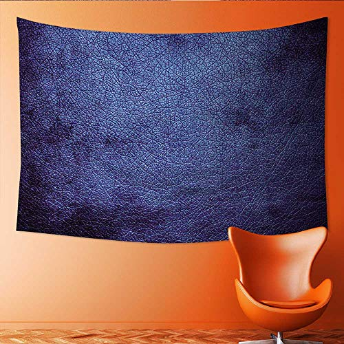 Printsonne Customed Widened Tapestry Navy Blue M ian Alien Skin Like Dark Blue Contemporary Interesting Design Dark Blue Wall Hanging Tapestry 84W x 70L Inch