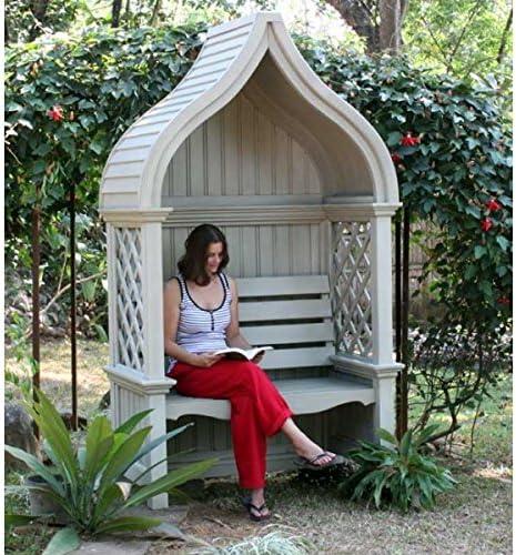 Banco de filosofía/Laubenbank Princess, madera maciza de caoba, banco de jardín de Mint: Amazon.es: Hogar
