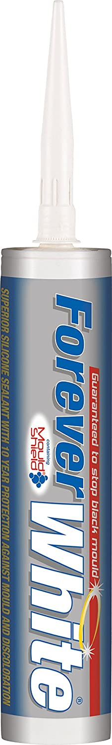 Forever Clear - Anti-mold silicone mastic for areas of high humidity - 295ml - Clear Everbuild FOREVERCLEAR-EBD B0017RMIX2