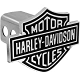 HARLEY-DAVIDSON Bar & Shield Trailer Hitch Cover 2 polegadas aço inoxidável HDHC14