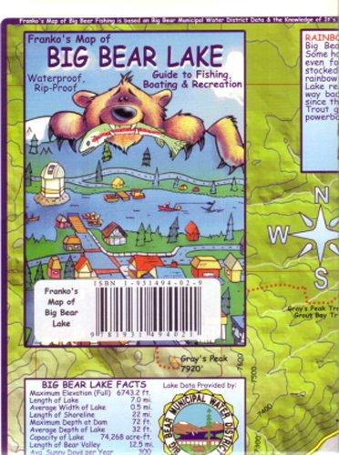 Big Bear Lake, CA Map by - Bear Descending