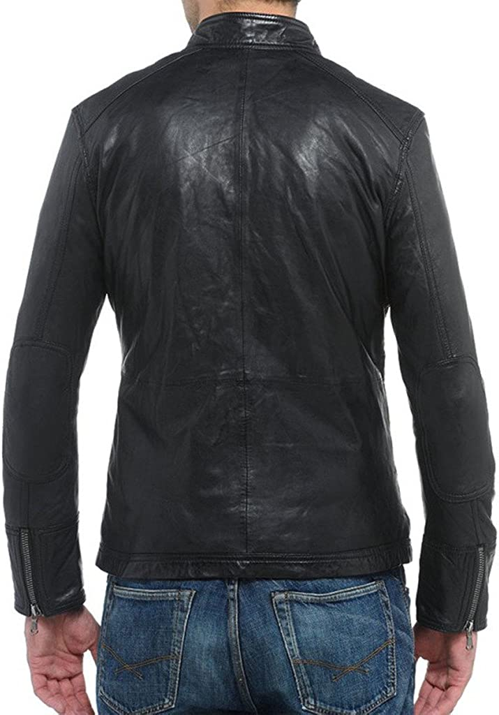 New Mens Motorcycle Leather Jacket Custom Made LF232