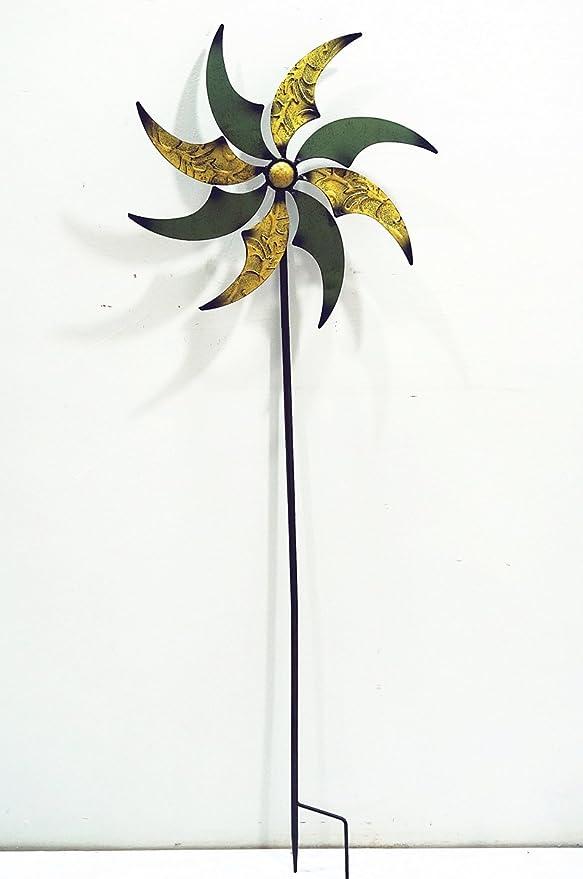 Unbekannt Detalles desconocidos sobre los Conectores de jardín Molino de Viento Grande Verde y Amarillo Metal (507011G) Jardín Decoración Jardín Conector: Amazon.es: Jardín