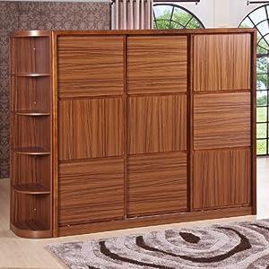 簡易組合趟門大衣柜 中式實木整體衣柜 儲物家具c916-2 三趟門(帶角柜