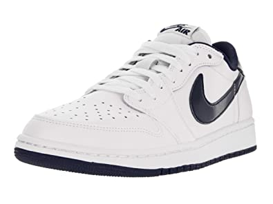 huge discount fc6dd 56bdd Image Unavailable. Image not available for. Color  Jordan 1 Retro Low OG  705329 106 White Midnight Navy Size 10