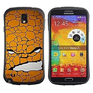 Suave TPU GEL Carcasa Funda Silicona Blando Estuche Caso de protección (para) Samsung Note 3 / CECELL Phone case / / Texture Face /