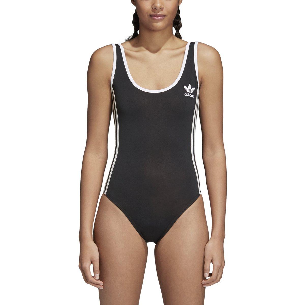 adidas Women's Originals 3-Stripes Bodysuit (M, Black)