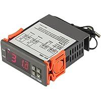 JZK® STC-1000 termostato digitale con sensore NTC sonda impermeabile, 4 funzione: raffreddamento riscaldamento correzione della temperatura singolo sensore, per stufetta refrigeratori frigorifero acquario caldaia vapore ecc