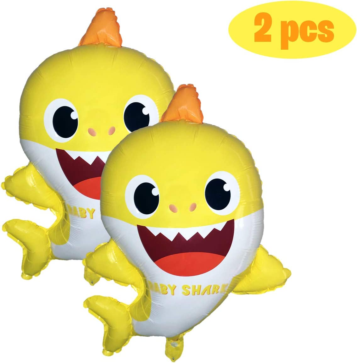 """Party Hive Large 22"""" Baby Cute Shark Helium Balloon for Kids Birthday Party Event Decoration (2 Pack)"""