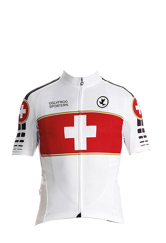 Uglyfrog Bike Wear Radsport Bekleidung Herren Summer Style Trikots & Shirts Kurzarm Radtrikot Fahrradtrikot Fahrradbekleidung für Männer/Gel Gepolsterte Shorts Set HDX09