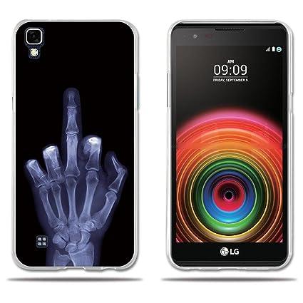 fubaoda Funda LG X Power Carcasa de Silicona,Dibujo Tema No Toque Mi Teléfono, Resistente a los Arañazos en su Parte Trasera,Funda Protectora ...