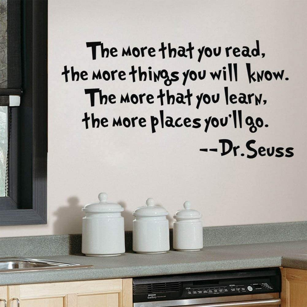 Discountfan Dr Seuss The More That You Read You Know Saying Quote Home Decor Vinyl Decals Wall Sticker