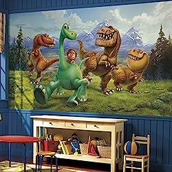 RoomMates JL1372M The Good Dinosaur Xl Chair Rail Prepasted Mural 6' x 10.5' - Ultra-Strippable