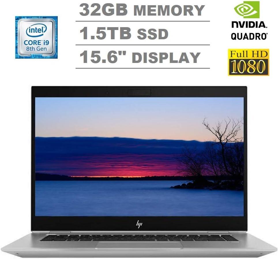 "2020 HP Zbook Studio G5 15.6"" FHD (1920x1080) Mobile Workstation Laptop (Intel 6-Core i9-8950HK, 32GB DDR4 RAM, 1.5TB PCIe M.2 SSD, Quadro P1000) Backlit, 2 x Type-C Thunderbolt 3, Windows 10 Pro"