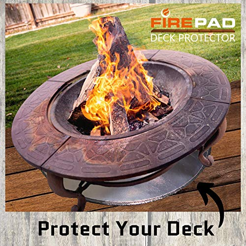 36 36 Huge 36 Inch Under Grill Mat Protector For Wood Burning Fire Pit And Grass