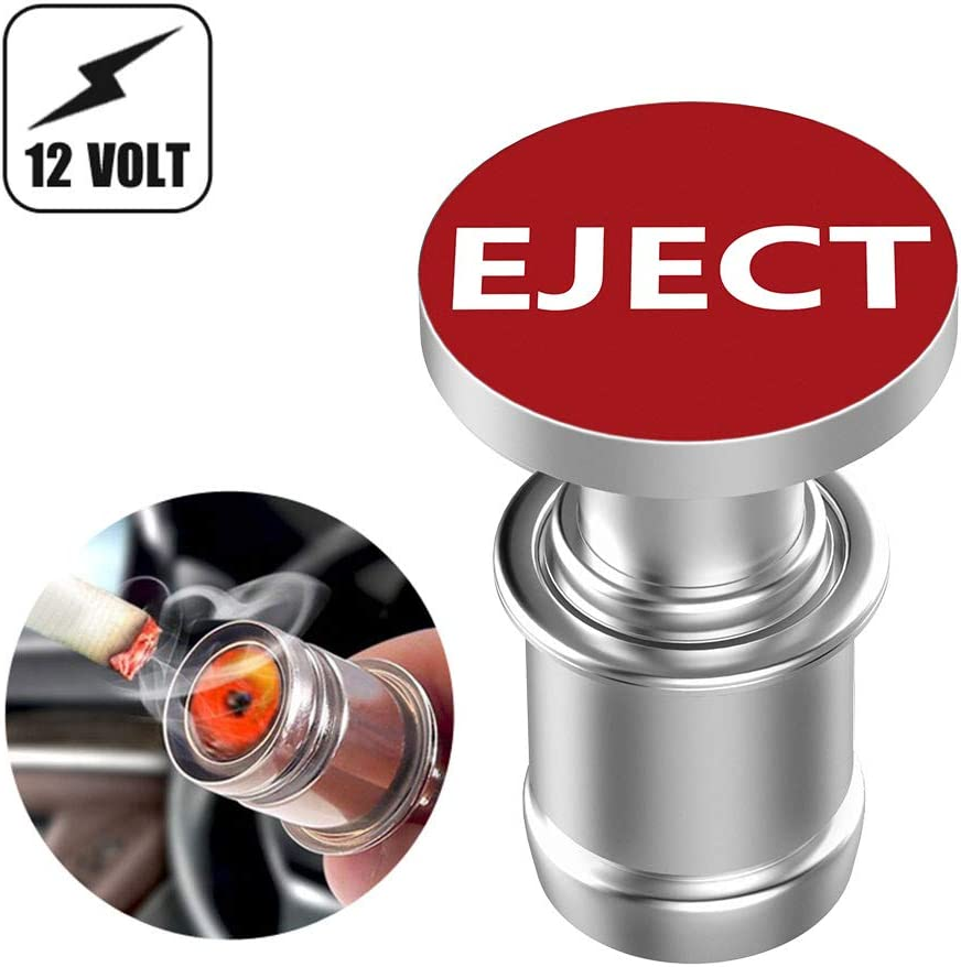 Melife Car Cigarette Lighter Replacement, Eject Button 12V Accessory Push Button Fits Most Automotive Vehicles (Red)