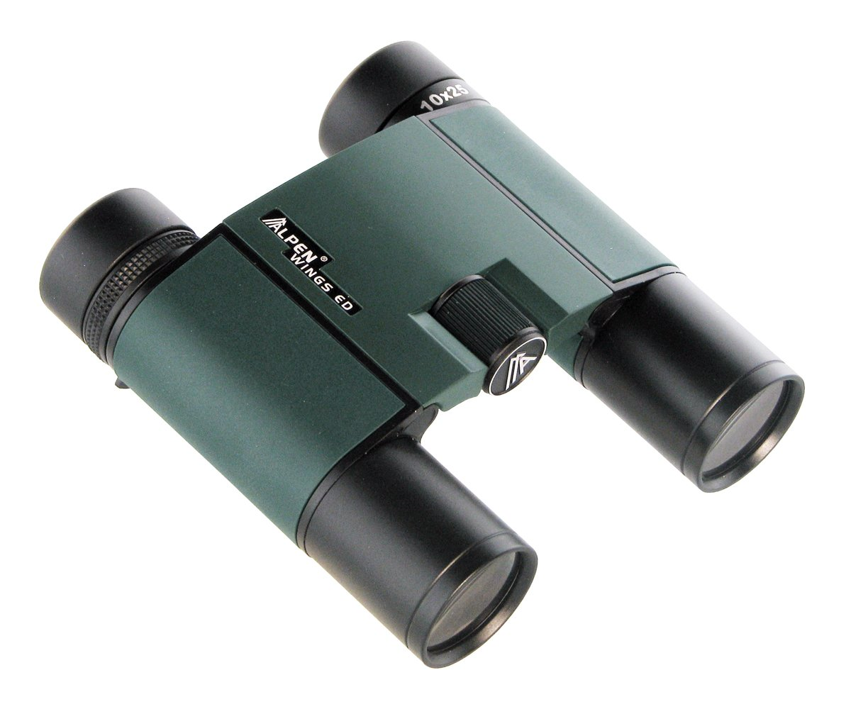 Alpen Optics WINGS ED HD 10x25 Compact Waterproof Fogproof, BaK4, Fully Multi Coated Roof Prism Binocular by Alpen Optics