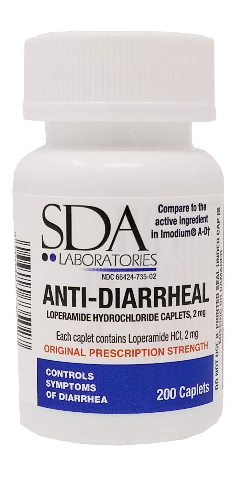 Anti-Diarrheal 2MG 200 Caplets by SDA Labs by SDA LABORATORIES