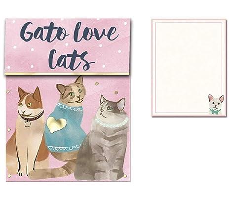 Amazon.com : Molly & Rex Gato Love Cats Mini Pocket Notepad ...